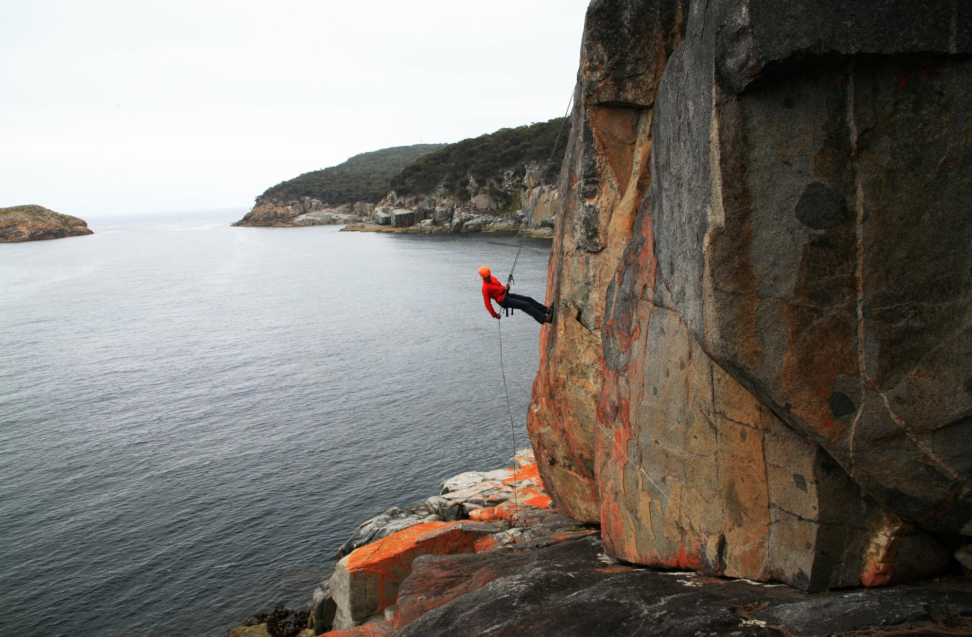 Abseiling at Freycinet, Freycinet National Park