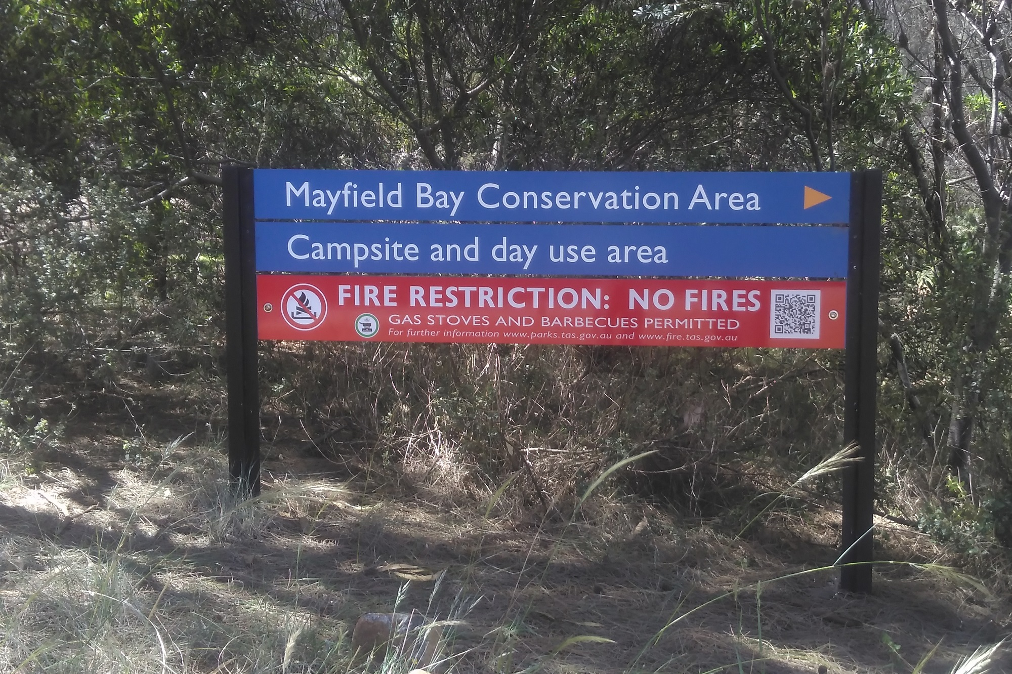 No fires - campground signage