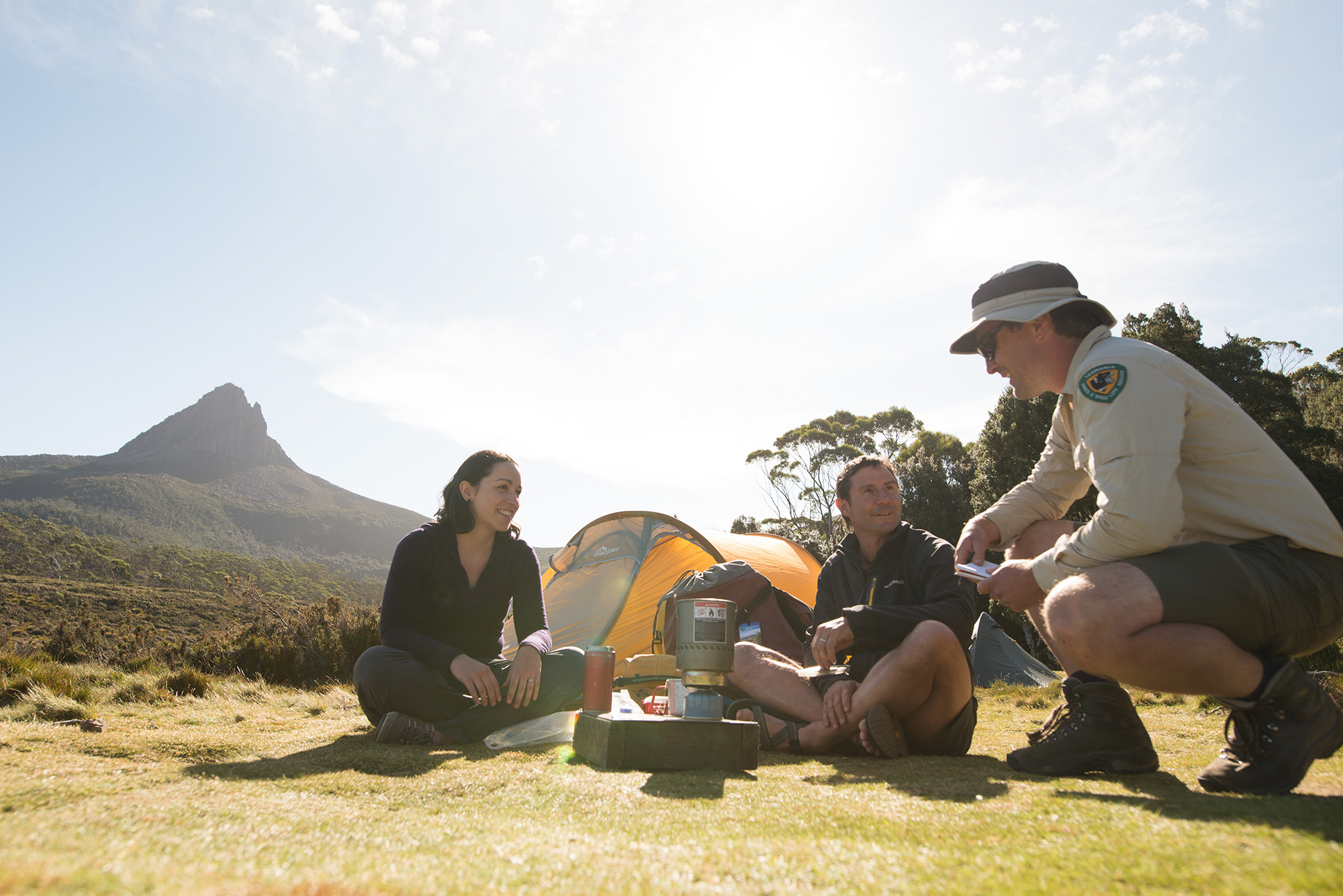Ranger and campers, Overland Track