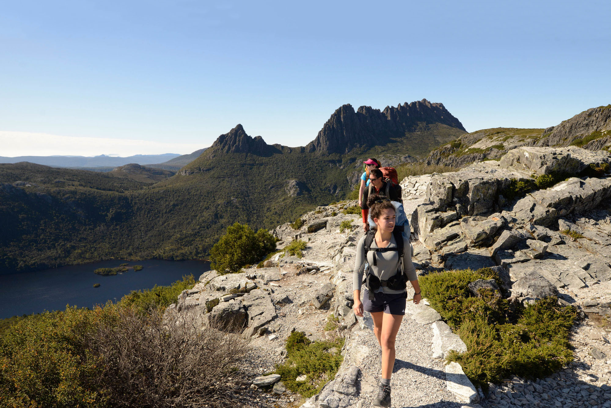 Walkers at Marions Lookout, Cradle Mountain.